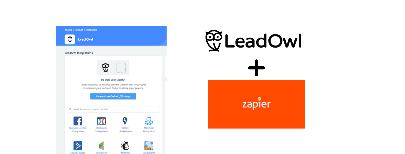 Introducing LeadOwl + Zapier, Now Released Outside of Beta