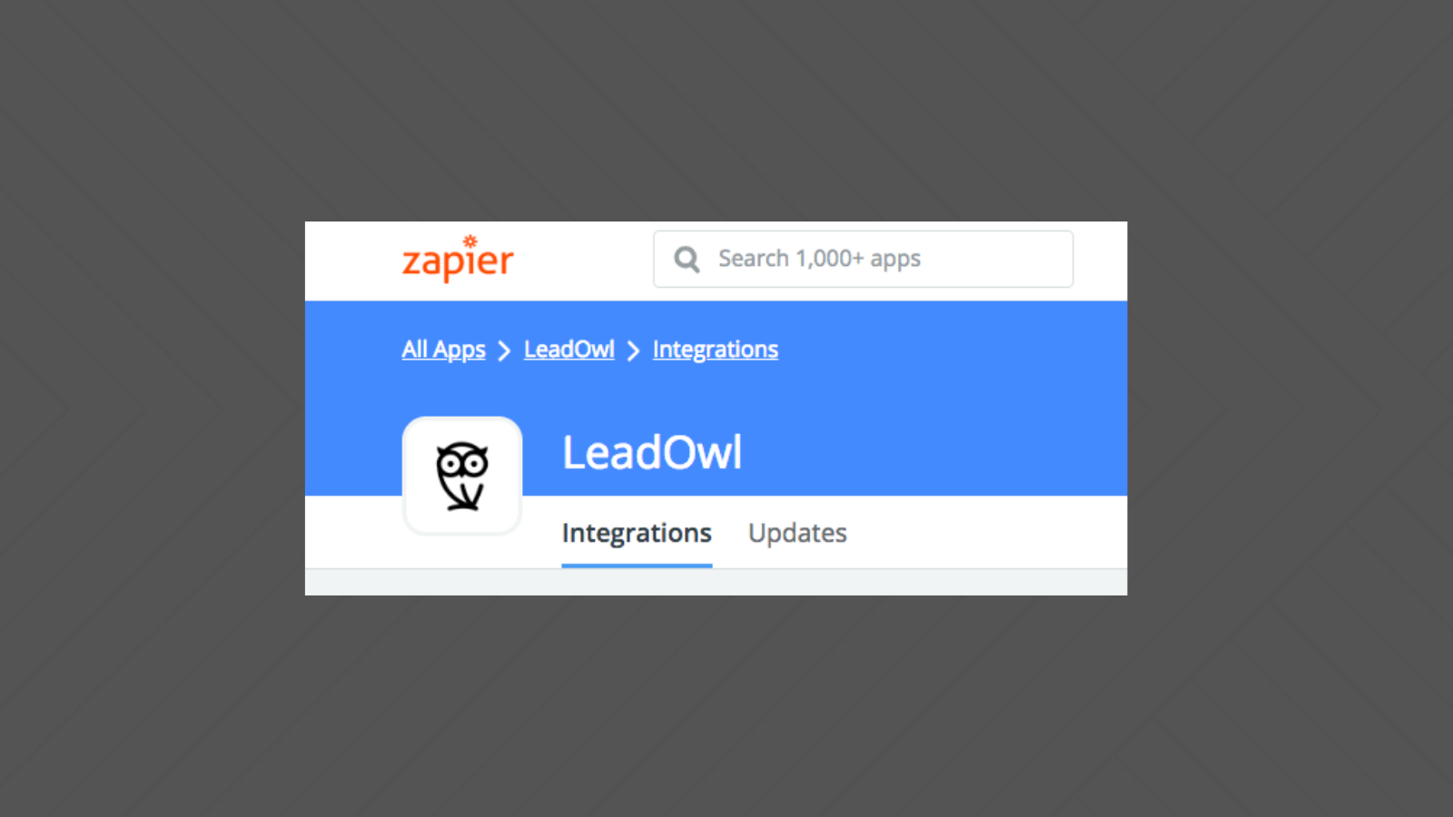 LeadOwl Released as Integrated App in Zapier