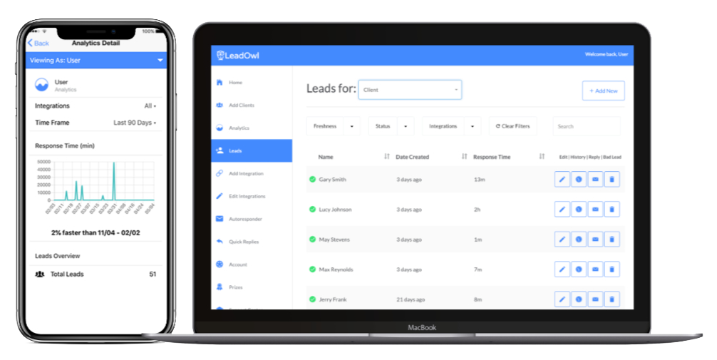 Manage leads with the simple LeadOwl CRM.