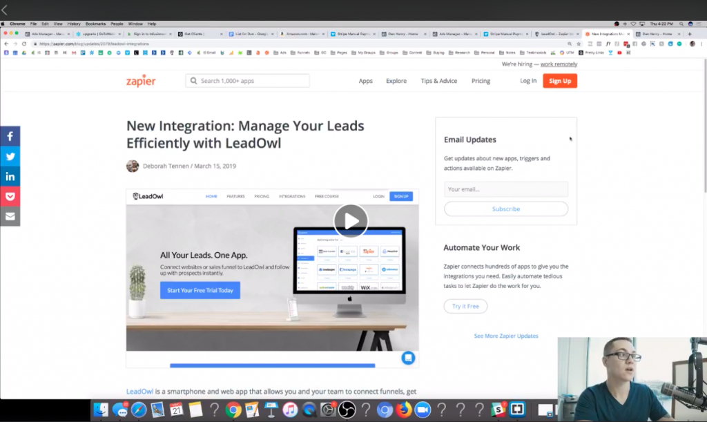 Zapier and LeadOwl direct integration